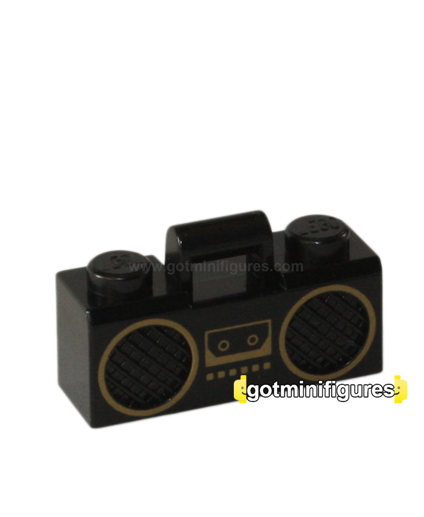 LEGO BOOMBOX Radio Cassette Player [Black, Gold] A