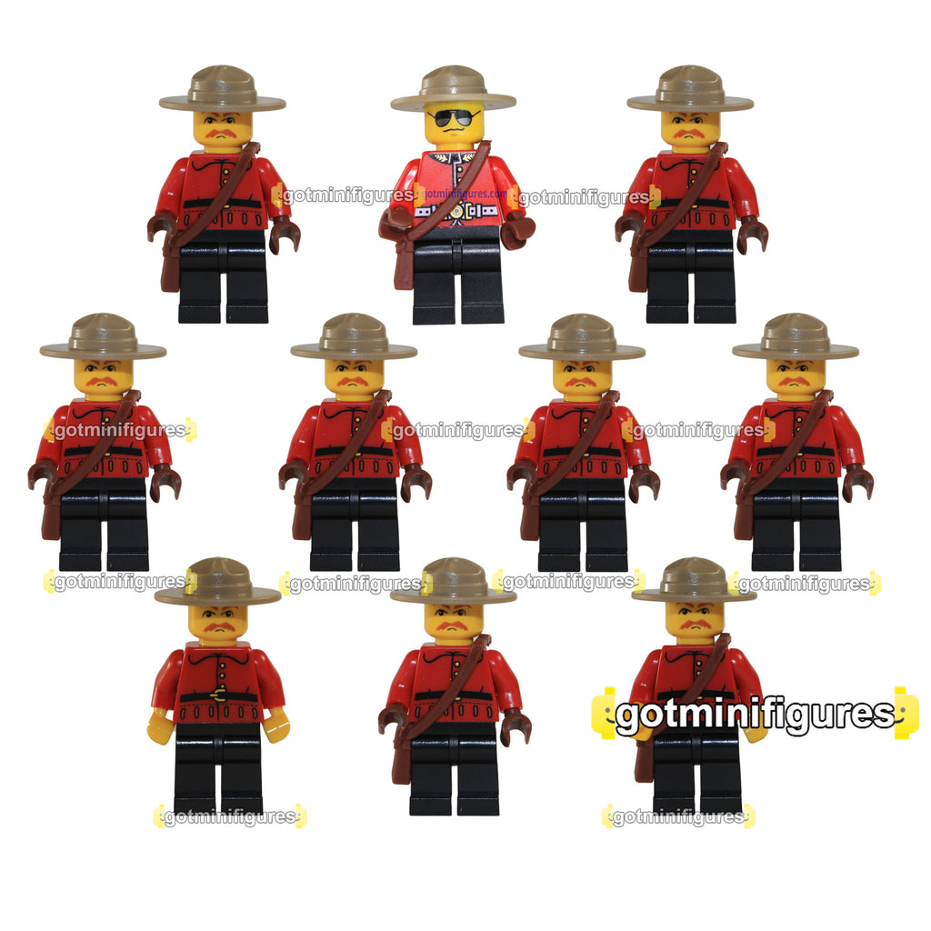 LEGO RCMP CANADIAN MOUNTIE Police Guy Exclusive (10x) lot minifigure