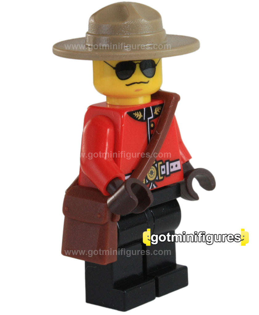 LEGO RCMP CANADIAN MOUNTIE Police Guy Captain Exclusive style A minifigure