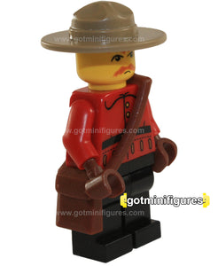 LEGO RCMP CANADIAN MOUNTIE Police Guy Sergeant style B with gloves, pouch minifigure