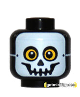 LEGO Head (yellow, black, white mask, skeleton guy monsters)