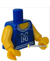 LEGO - TORSO Cheerleader yellow, blue w/