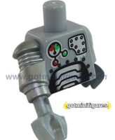 LEGO - TORSO  (Silver, robotic arm, Robot series 1) for minifigure