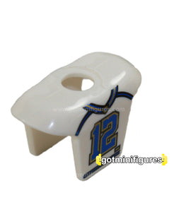 LEGO Shoulder Pads #12, white (Blue, s8 football) bodywear