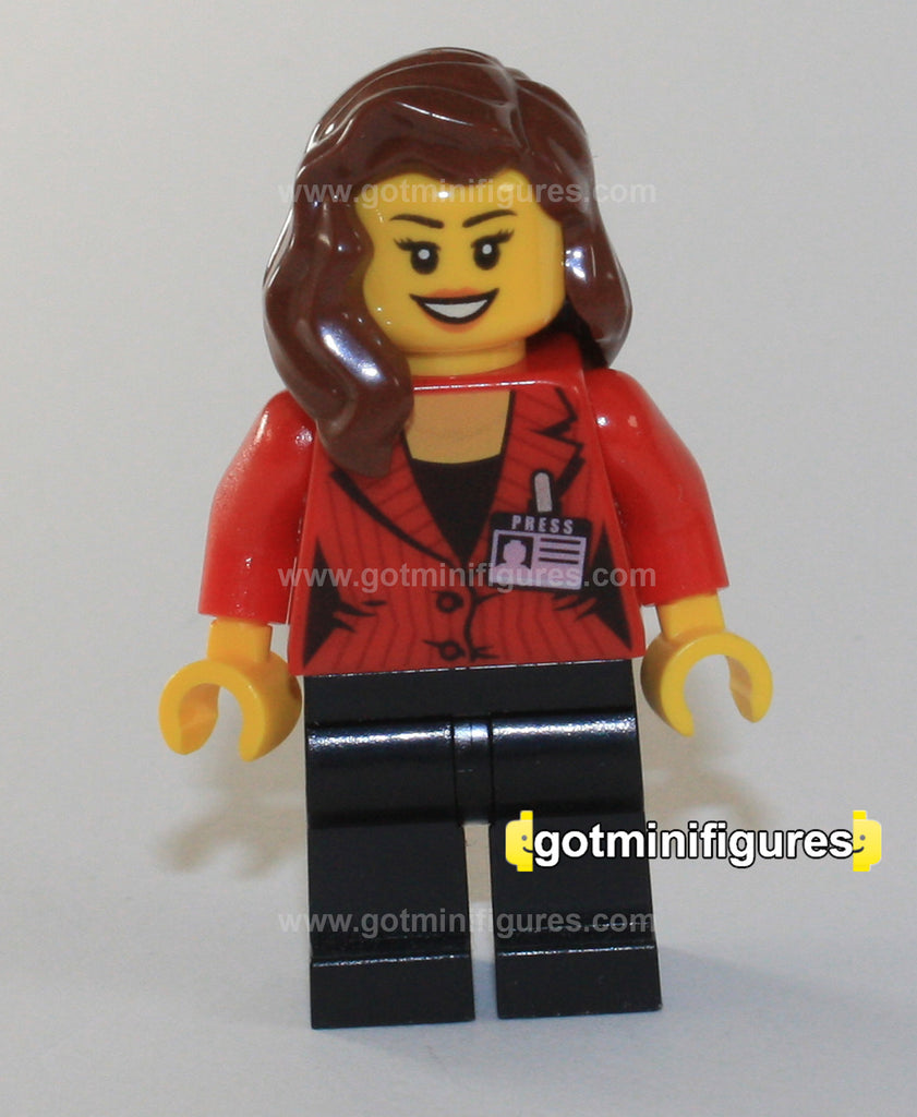 LEGO minifigure lady press officer Baukästen & Konstruktion