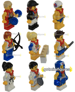 LEGO Olympic TEAM GB series SET OF 9 RARE minifigures #8909