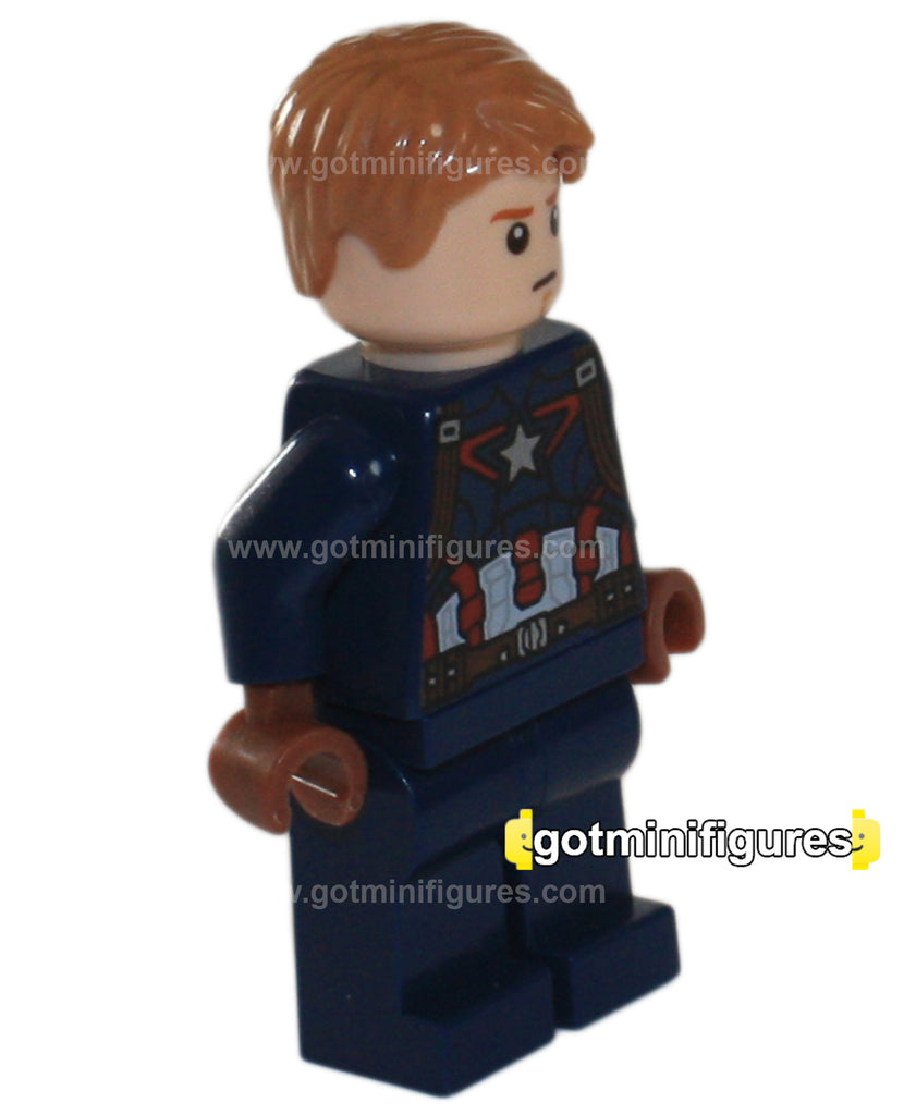 LEGO Super Heroes CAPTAIN AMERICA detailed suit hair minifigure #76042