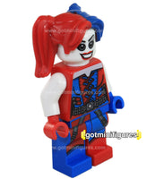 LEGO Super Heroes HARLEY QUINN blue red, pigtails minifigure #76053