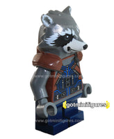 LEGO Super Heroes ROCKET RACOON dk blue outfit minifigure #76079