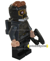 LEGO Super Heroes STAR-LORD silver armour w helmet jet pack minifigure #76081
