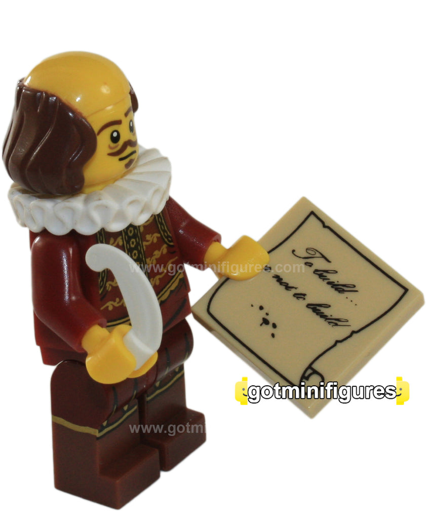 The LEGO MOVIE Series - WILLIAM SHAKESPEARE - minifigure NEW 71004