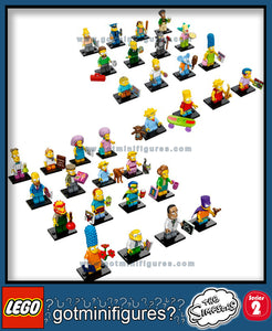 The SIMPSONS LEGO Series   1 & 2 -  (32) - SUPER COMPLETE minifigure set 71005 + 71009