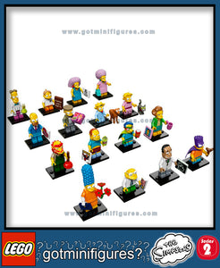 The SIMPSONS LEGO Series 2 -  (16) - COMPLETE minifigure set 71009