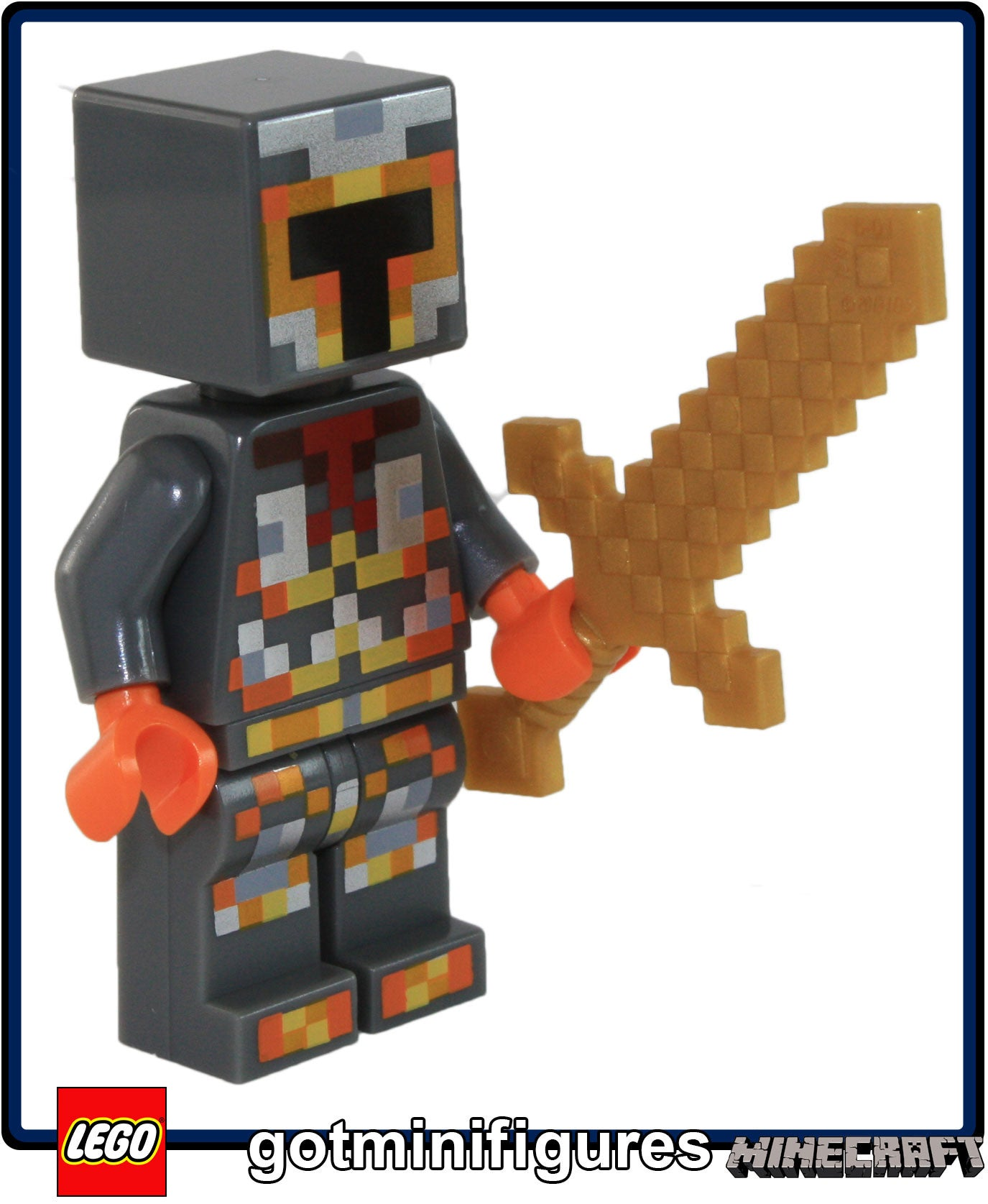 LEGO® Minecraft™ Alex Minifig with Flat Silver Armor from 21133