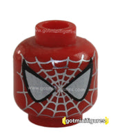 LEGO - HEAD (Red Silver pattern SPIDER-MAN A) for minifigure