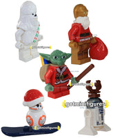LEGO Star Wars XMAS YODA BB8 CHEWBACCA R2D2 C3PO Santa Christmas minifigure lot