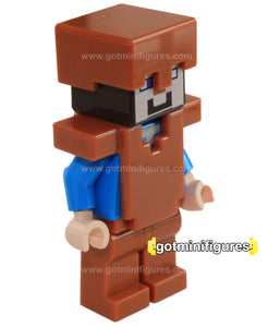 LEGO MINECRAFT STEVE COPPER ARMOR dk orange minifigure 21132