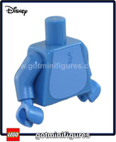 LEGO - TORSO (Medium blue, Spikes on back, Stitch) for minifigure