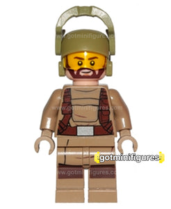 LEGO Star Wars RESISTANCE TROOPER beard, dk tan minifigure 75189