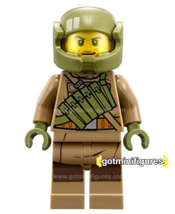 LEGO Star Wars RESISTANCE TROOPER dk tan, pockets minifigure 75202
