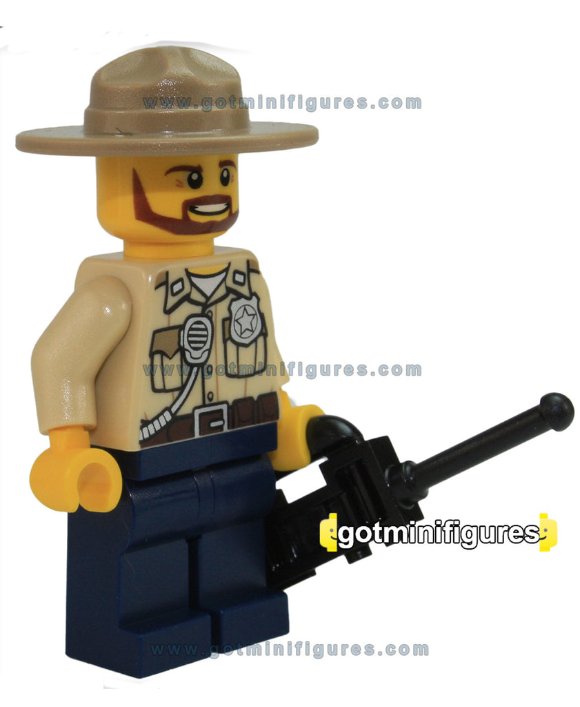 LEGO City SWAMP POLICE OFFICER w/ hat minifigure