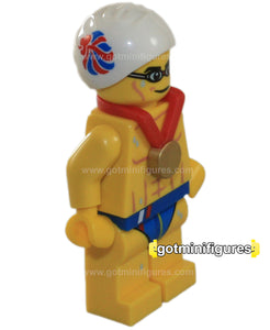 LEGO Olympic STEALTH SWIMMER Team GB minifigure  8909
