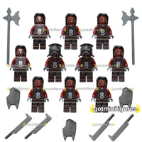 LEGO Lotr URUK HAI Army Soldiers Lord of the Rings 10x minifigures  BRAND NEW