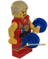 LEGO Olympic WONDROUS WEIGHTLIFTER Team GB minifigure  8909