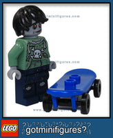 LEGO Collectible Series ZOMBIE SKATEBOARDER exclusive minifigure