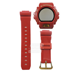 Casio G-Shock DW-6930A-4 Rising Red 30th Anniversary Hardcase with Resin Band & Bezel