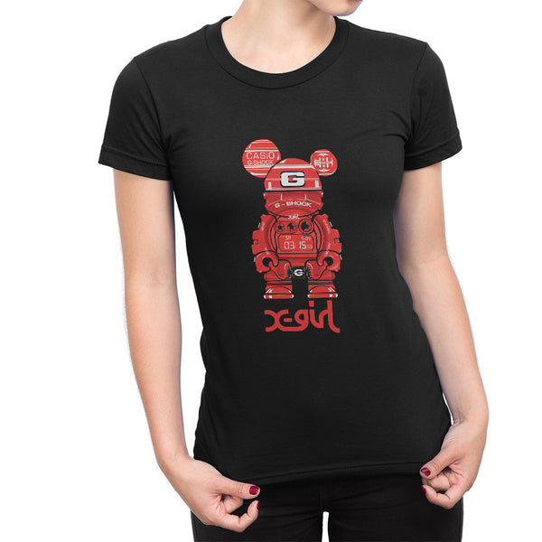 G-Shock BearHero X-Girl Red Women's T-Shirt