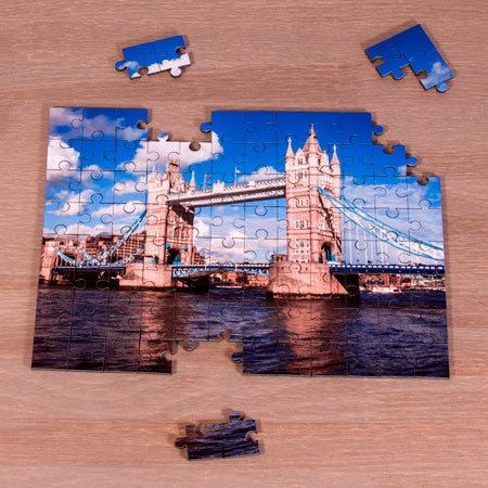 96 Piece Photo Jigsaw made of wood.