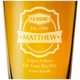 Beer Label Glass