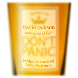 Don't Panic Pint Glass