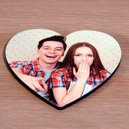 Heart Shaped Photo Coaster