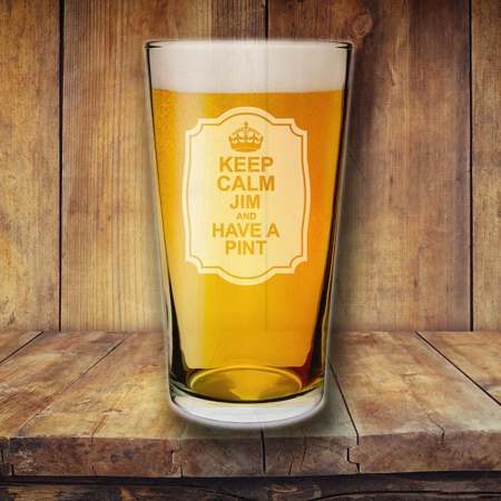 Keep Calm Glass
