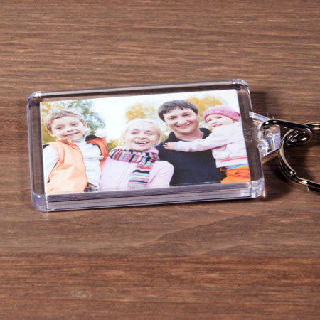 Clear Plastic Photo Keyring