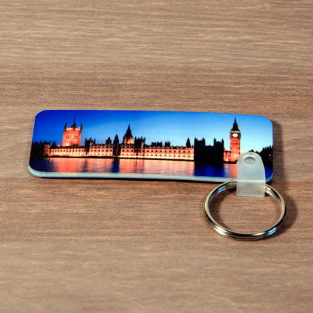 Plastic Rectangle Photo Keyring