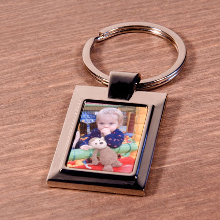 Rectangle Metal Photo Keyring