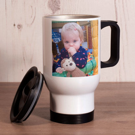 White Thermal Travel Mug with Photograph