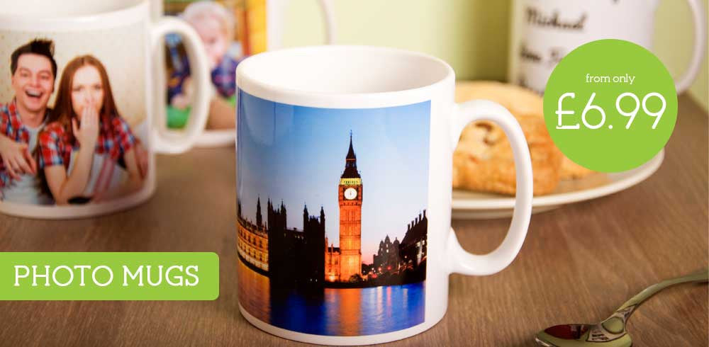 Browse our range of Personalised Photo Gifts including Photo Mugs