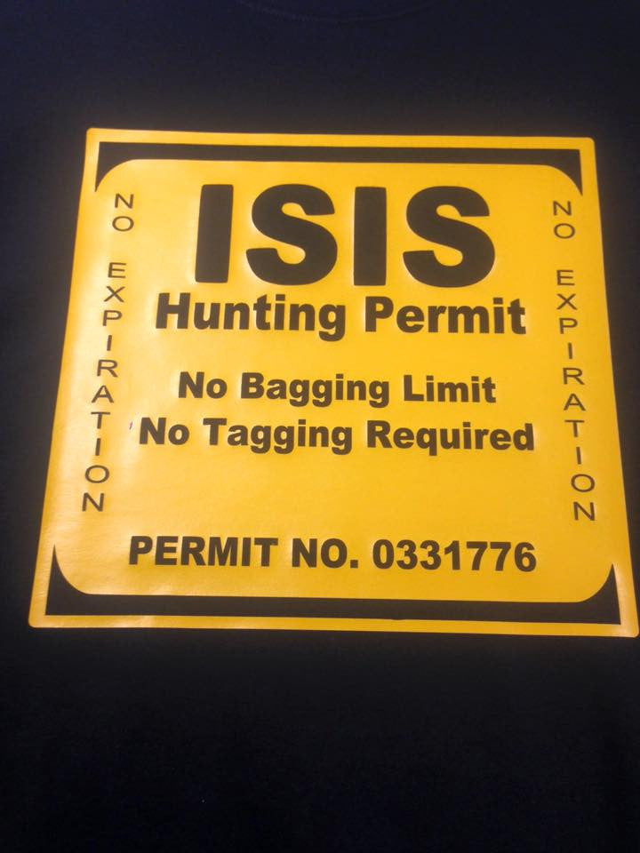ISIS Hunting Permit T-shirt or Hoodie