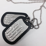 Genuine Military Dog Tag Set