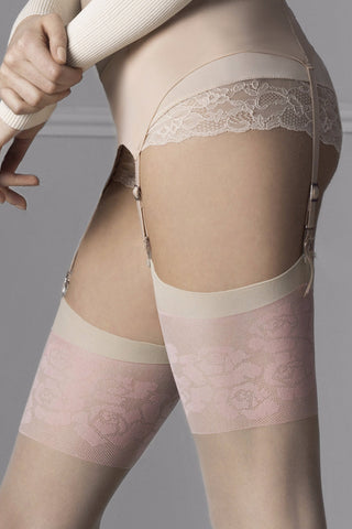 Fiore Blush Stockings
