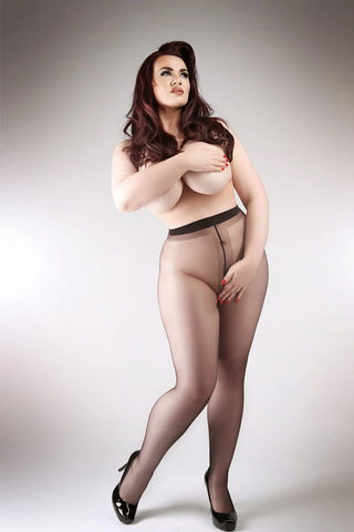 Miss Naughty Crotchless Sheer Tights