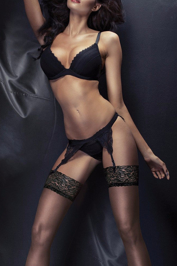 20dadc378ff Couture Ultra Gloss 10 Lace Top Stockings ...