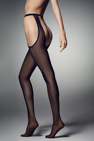 Veneziana Strippante Crotchless Tights