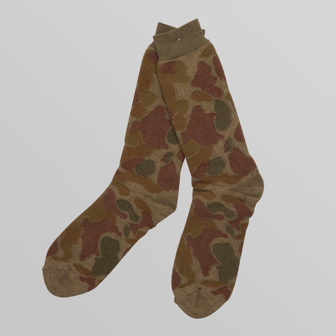 Mens Cotton Camo Socks