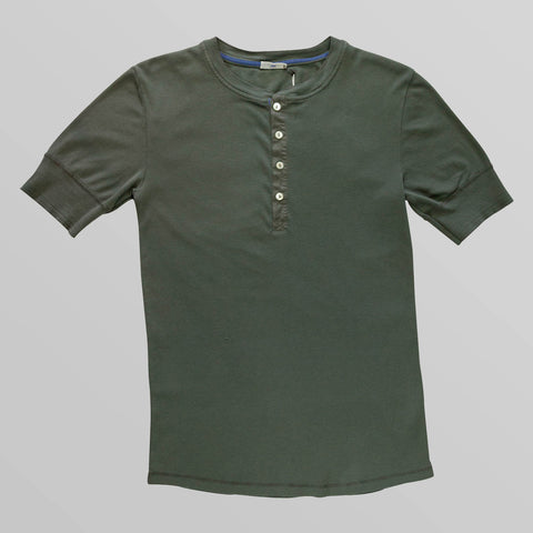 Olive Henley T-Shirt