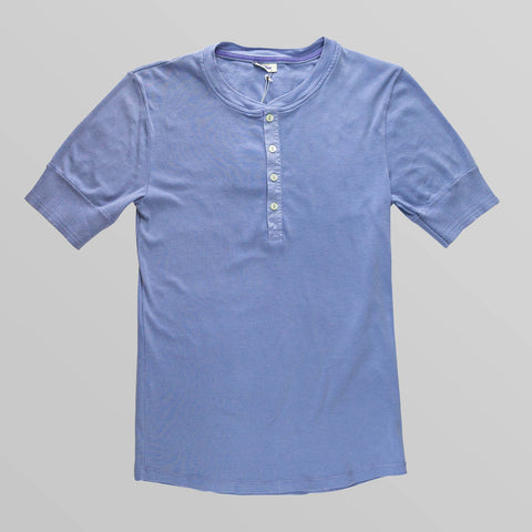 Light Blue Henley T-Shirt